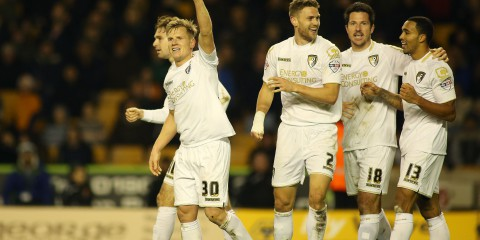 Matt Ritchie of Bournemouth celebrates scoring his sides second goal with team mates.